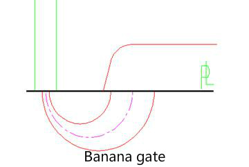 banana gate design