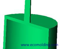 injection-molding-direct-gate shape