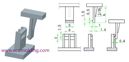 Snap joint design and types in plastic injection molding