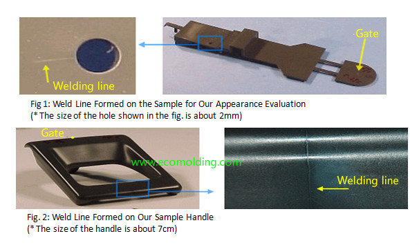 Welding line,plastic injection molding defects-ecomolding com