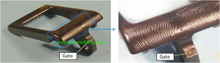 flow marks injection molding defect