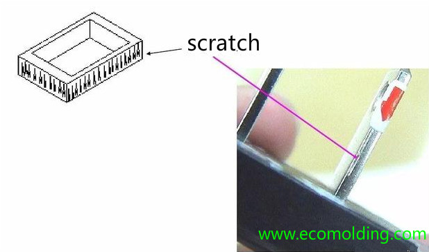 scratch injection molding defects
